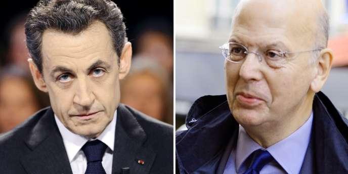 Nicolas Sarkozy, le 6 mars 2012, et Patrick Buisson, le 15 octobre 2012.
