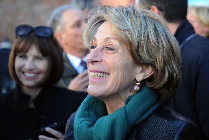 Brigitte Barèges, maire UMP de Montauban, soupçonnée de détournement de fonds, le6février 2014.