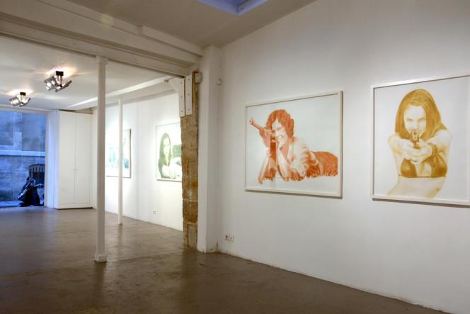 Œuvres de Brigitte Zieger à la galerie Odile Ouizeman, à Paris, en 2011.