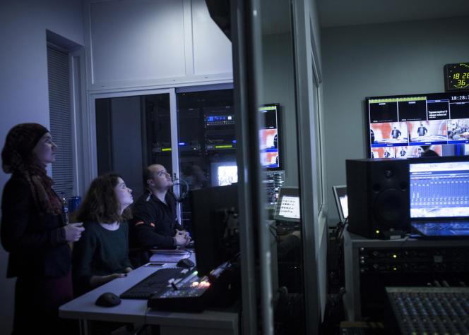Dans les locaux de la télévision tatare de Crimée, le 5 février.
