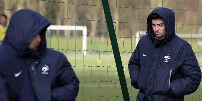 Enzo Fernandez Zidane (à droite), à Clairefontaine le 3 mars.