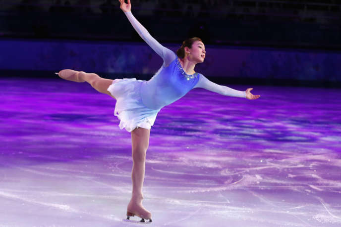 La patineuse coréenne Kim Yuna, vice-championne olympique à Sotchi le 22 février.