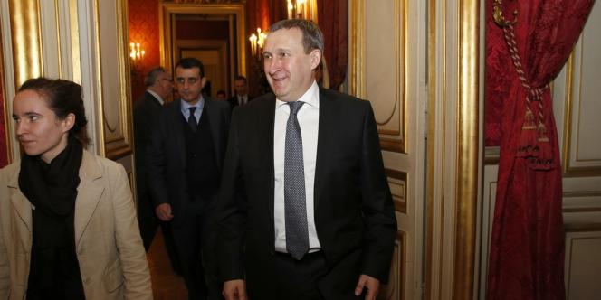 Le ministre des affaires étrangères ukrainien, Andreï Dechtchitsa, à Paris le 5 mars.