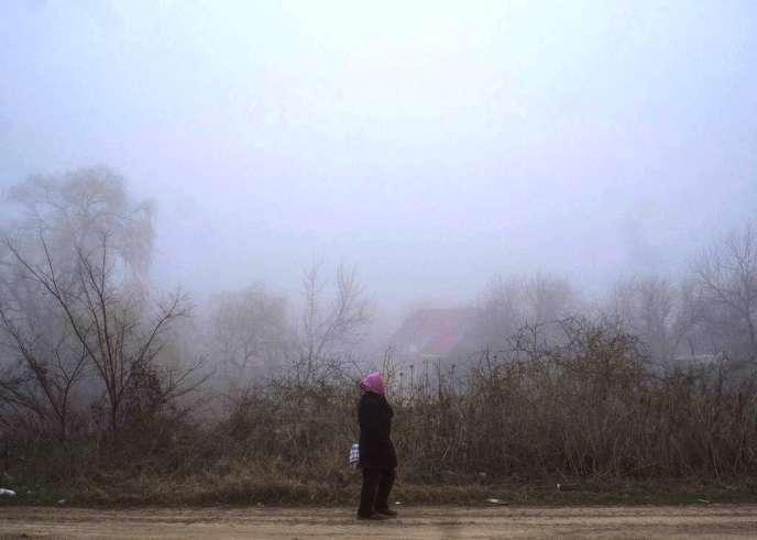 Sur la route qui mène de Simferopol à la Russie, le 6 mars.