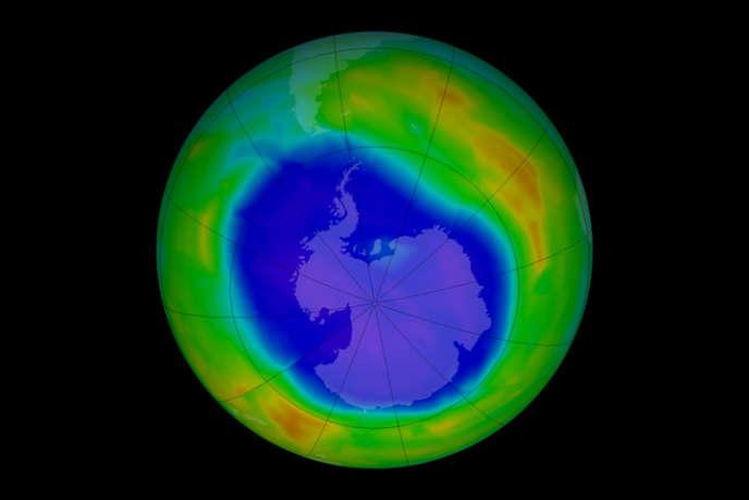 Le trou de la couche d'ozone au-dessus de l'Antarctique en septembre 2011