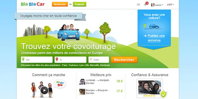Page d'accueil du site blablacar.