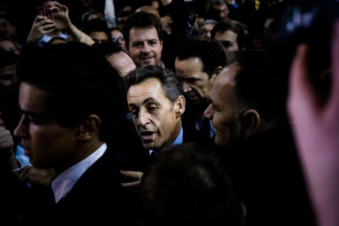 Nicolas Sarkozy au meeting de NKM le 10 février 2014
