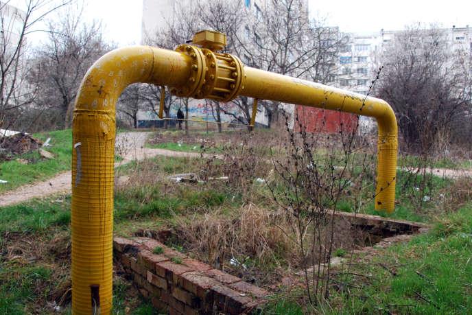 Une conduite de gaz à Sébastopol en Crimée en mars.