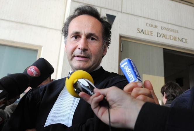 Pierre-Olivier Sur au Palais de justice du Mans, le 26 juin 2012.