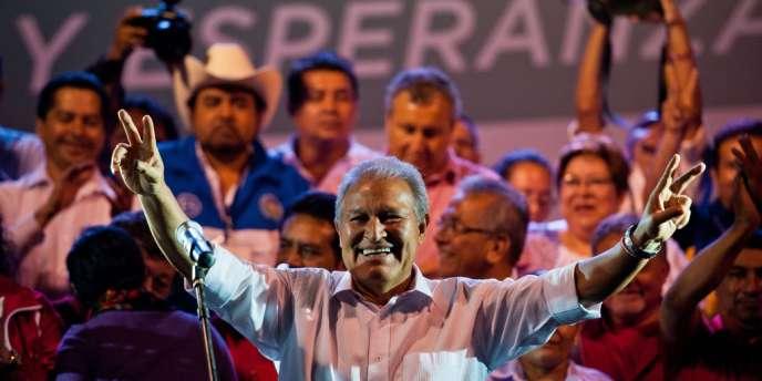 Salvador Sanchez Ceren, dimanche 9 mars à San Salvador.