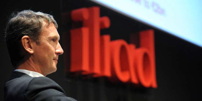 Maxime Lombardini, directeur général d'Iliad, maison mère de Free Mobile, en septembre 2013 à Paris.