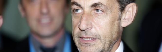 Nicolas Sarkozy à Nice, lundi 10 mars, pour l'inauguration de l'Institut Claude Pompidou.