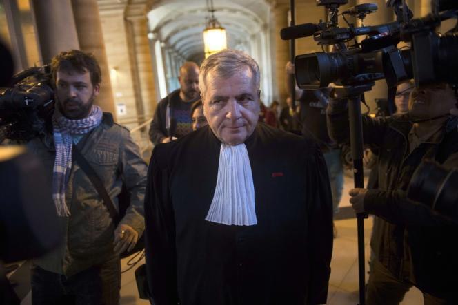Thierry Herzog, l'avocat de Nicolas Sarkozy, au tribunal de Paris, le 10 mars.