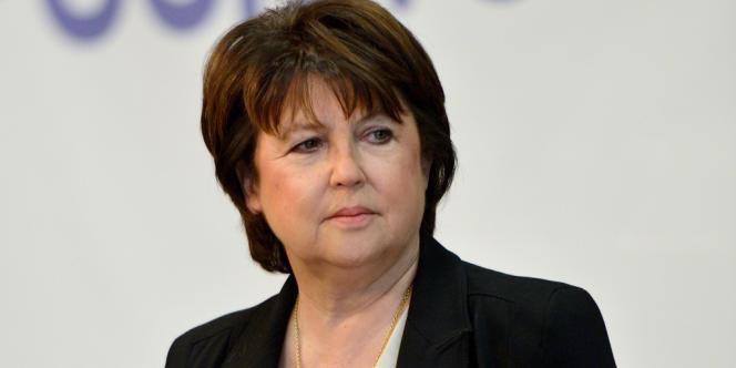 Martine Aubry, maire PS de Lille, candidate à un troisième mandat n'a pas signé.