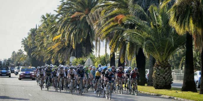 A Nice, lors de l'édition 2013 de Paris-Nice, remportée par Richie Porte.