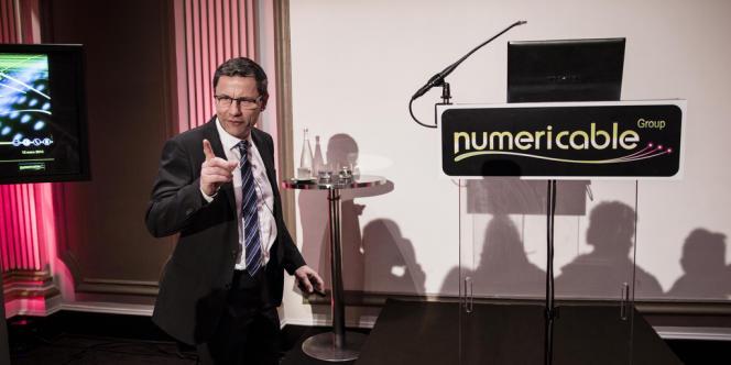Eric Denoyer, PDG de Numericable, mercredi 12 mars, à Paris.