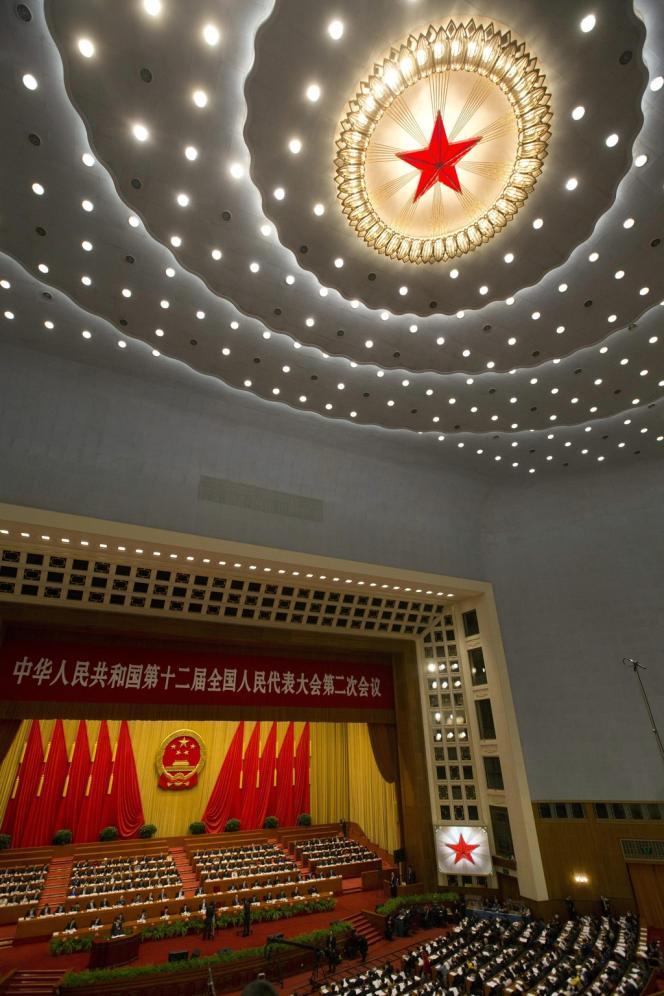 L'ouverture de la session annuelle de l'Assemblée nationale populaire, le 5 mars à Pékin.