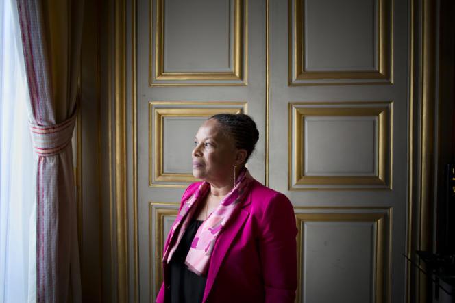 Christiane Taubira, le 12 mars à Paris.