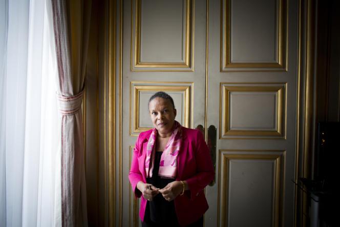 Christiane Taubira à Paris, le 12 mars.