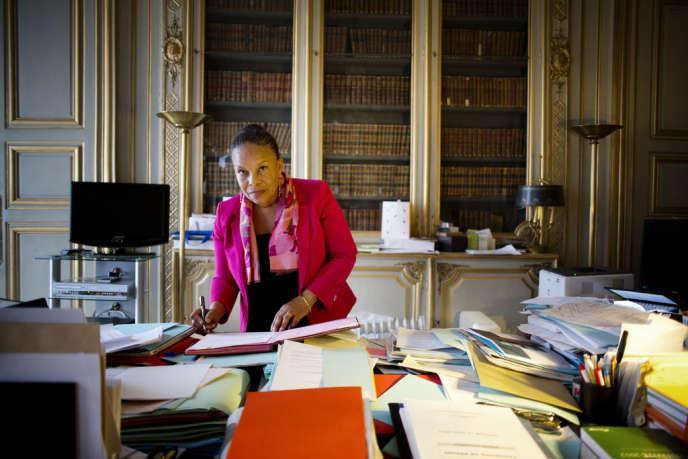 Christiane Taubira, à Paris, le 12 mars.