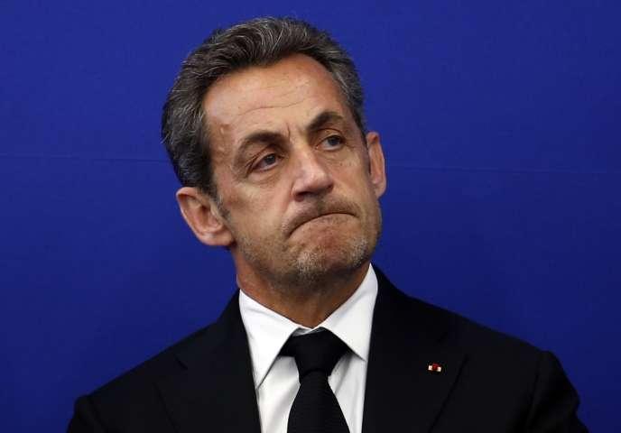 Nicolas Sarkozy, à Nice, le 10 mars.