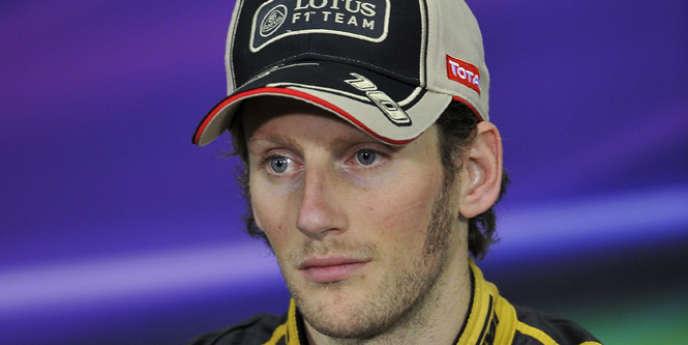 Le pilote de formule 1 français Romain Grosjean.