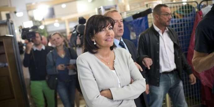 Anne Hidalgo, la candidate Ps à la Mairie de de Paris.