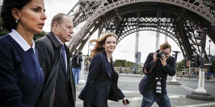 Autre ex-ministre amatrice de haute couture, Nathalie Kosciusko-Morizet, candidate UMP à la mairie de Paris. (19 septembre 2013)