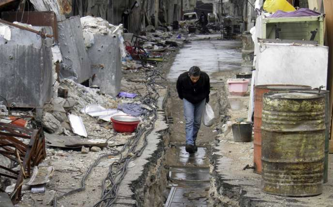 A Homs, le 9 mars.