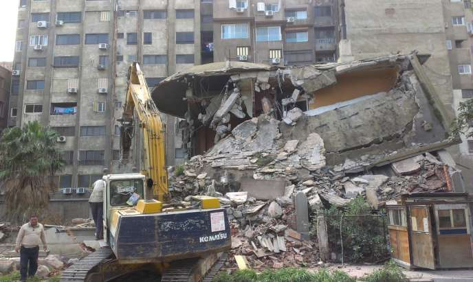 La Villa Aghion à Alexandrie  le 5 février 2014.