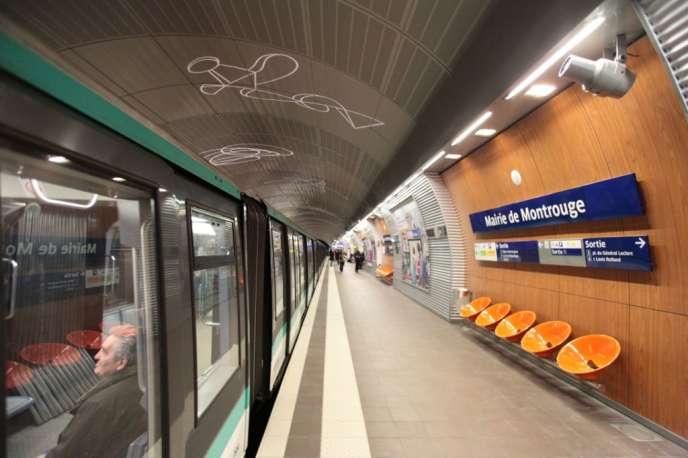 La station Mairie-de-Montrouge (Hauts-de-Seine), terminus au sud de Paris de la ligne 4 du métro.