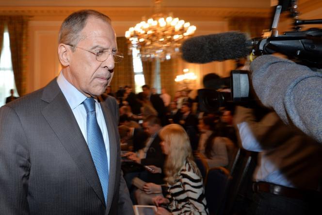 Le ministre russe des affaires étrangères, Sergueï Lavrov, le 14 mars à Londres.