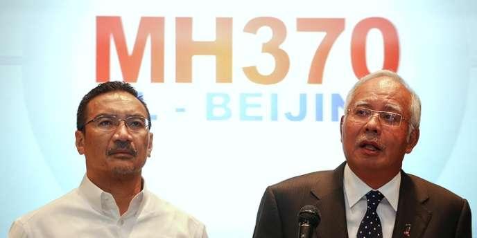 Le premier ministre malaisien face à la presse, samedi 15 mars 2014, à Kuala Lumpur.