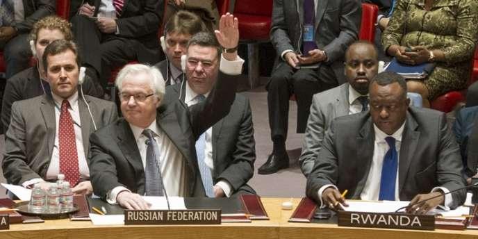 L'ambassadeur russe auprès de l'ONU a voté contre la résolution sur la Crimée, samedi.