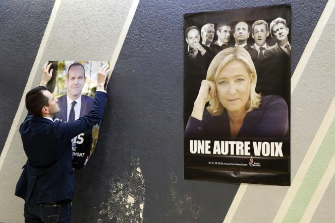 Poster du Front national à Hénin-Beaumont.