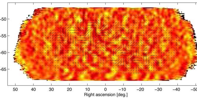 Cette image est celle du fond diffus cosmologique. Les variations de températures, qui correspondent aux variations de couleurs, sont liées aux ondes gravitationnelles primordiales.