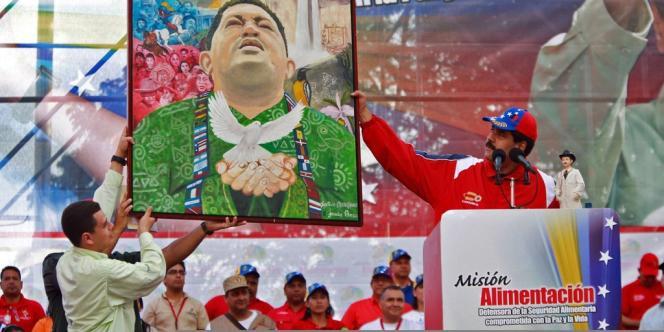 Lors du meeting de soutien à Maduro, le 16 mars.