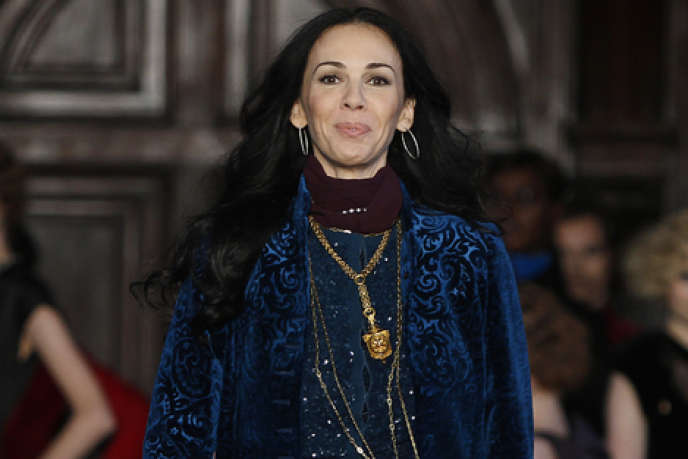 La créatrice L'Wren Scott lors de la présentation de sa collection automne-hiver à New York, le16février2012.