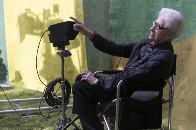 Alain Resnais sur le tournage de son dernier film,