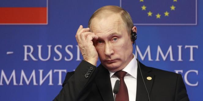 Vladimir Poutine, le 28 janvier à Bruxelles.