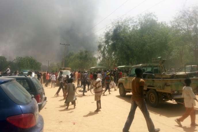 Après une attaque dans la ville de Maïdiguri, le 14 mars 2014.