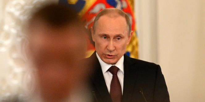 Vladimir Poutine au Kremlin le18mars.