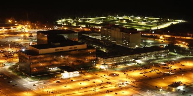 La NSA, vue de nuit. Barack Obama avait assuré en janvier que les Etats-Unis ne surveillaient pas ceux qui ne menaçaient pas la sécurité nationale de son pays.