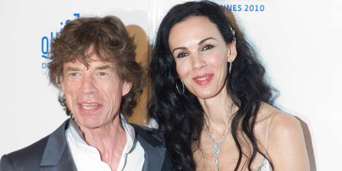 Mick Jagger et L'Wren Scott lors du 63e Festival du film de Cannes, le 19 mai 2010.