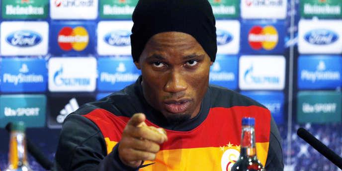 Didier Drogba, ici le 17mars en conférence de presse, retournera à Chelsea pour la première fois en tant que joueur lors du huitième de finale retour de la Ligue des champions sous les couleurs de Galatasaray.