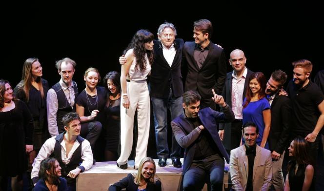 Roman Polanski et les comédiens du musical