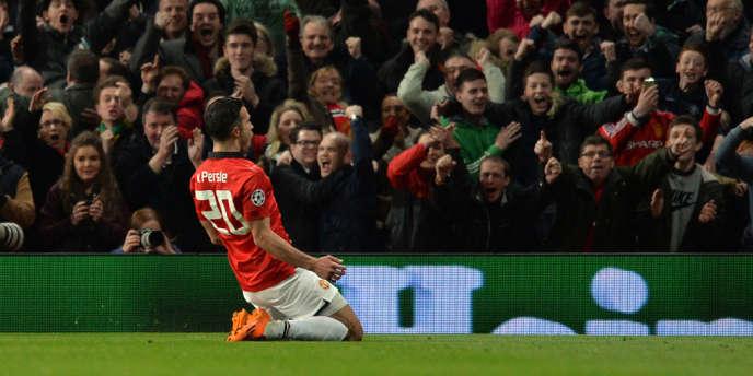 L'attaquant de Manchester United Robin van Persie.