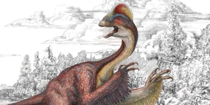 Illustration représentant Anzy Wyliei, nouveau dinosaure dont la découverte a été annoncée le 18 mars.