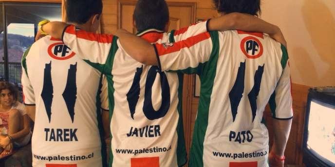 Depuis janvier, sur les maillots de club chilien Deportivo Palestino, une carte de la Palestine d'avant 1948 remplace le chiffre 1.