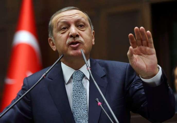 Le premier ministre turc, Recep Tayyip Erdogan, le 25 février à Ankara.